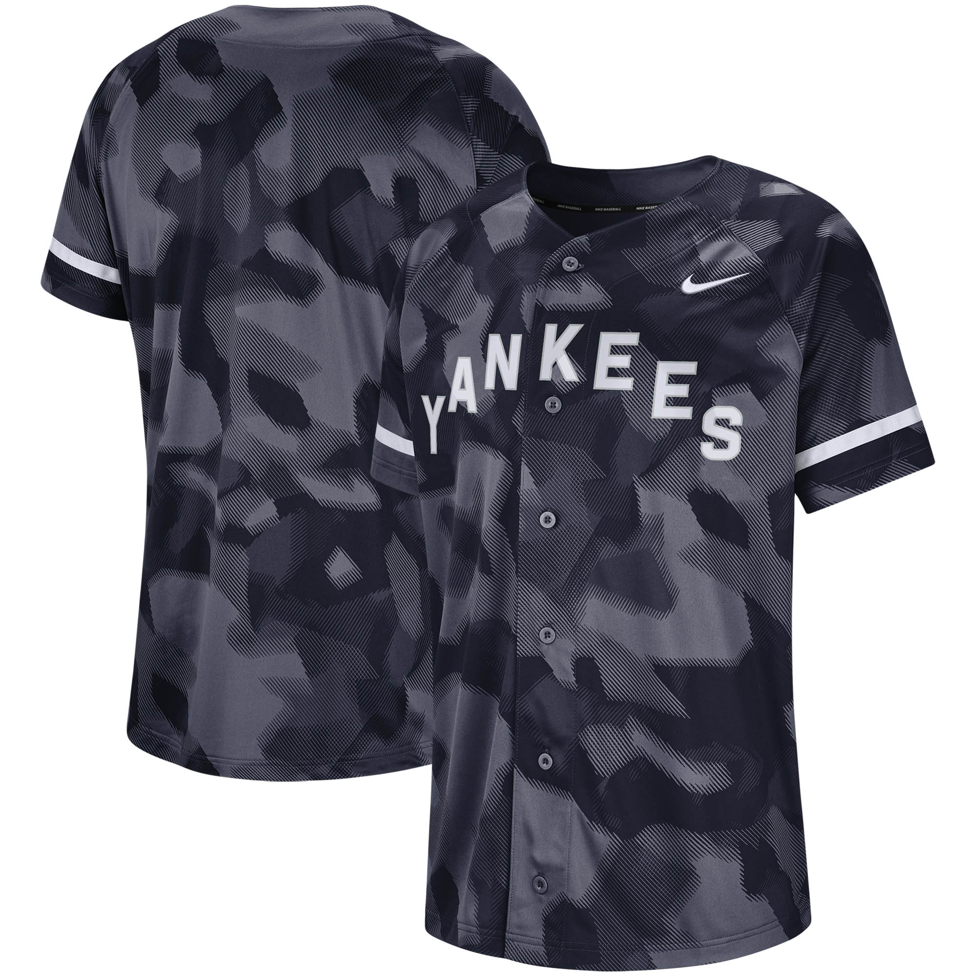 New York Yankees Nike Camo Jersey - Navy