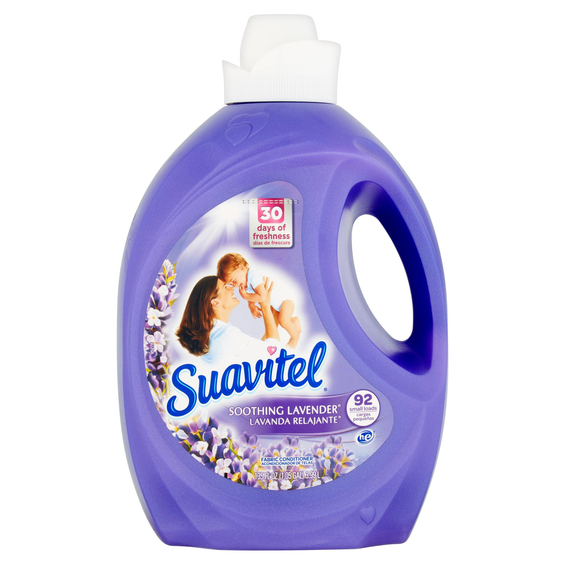 Suavitel Soothing Lavender Liquid Fabric Conditioiner, 135 fl oz