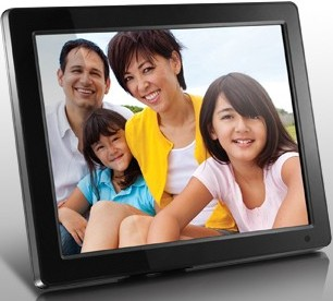 """Aluratek 12"""" Digital Photo Frame with 2GB Built-In Memory (1280 x 800 resolution, 16:9 Aspect Ratio)"""