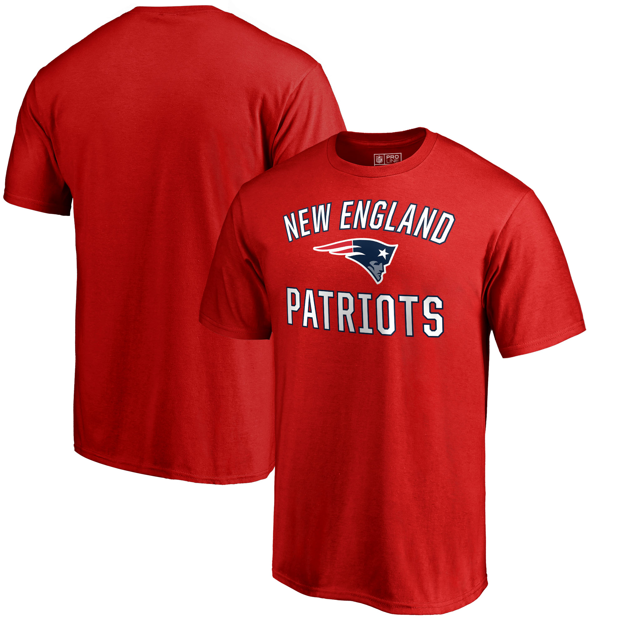 New England Patriots NFL Pro Line by Fanatics Branded Victory Arch T-Shirt - Red