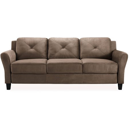 Taryn 78 75 Quot Rolled Arm Sofa Brown Walmart Com