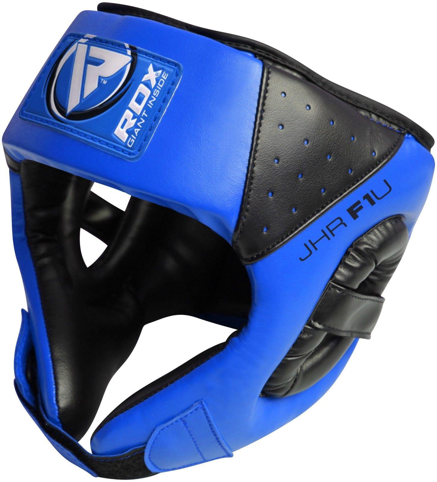 RDX Maya Hide Leather Kids Boxing MMA Headgear Junior Head Guard Children Youth Helmet by RDX