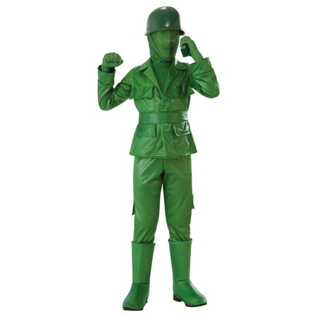 Us Army Costumes (Boys Green Army Boy Costume)
