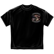 Rather Die On My Feet Armed Forces Soldier T-Shirt by , Black, 3XL