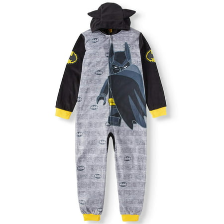 Lego Batman Hooded Graphic Union Suit Pajama (Big Boy & Little Boy) - Batman Robe