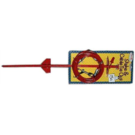 Part Q5715Dom99 Cable Dome Stake Combo15Ft by Boss Pet Single Item Gre