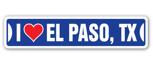 I love el paso texas street 3 pack of vinyl decal stickers 1 5
