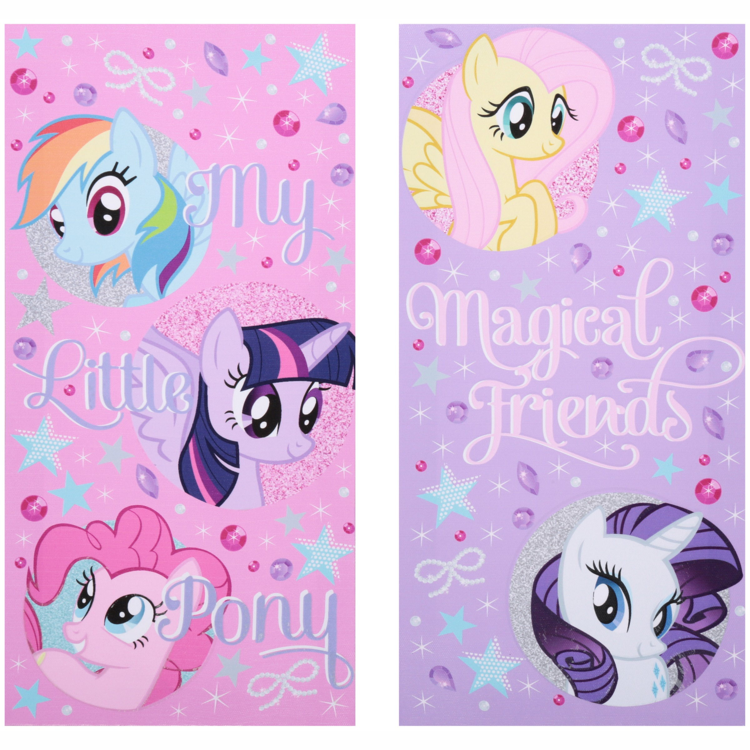 My Little Pony Glow in the Dark 2-Pack Canvas Wall Art