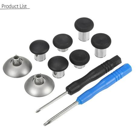 10Pcs/Set Replacement Metal Buttons Mod Kit Thumb Sticks