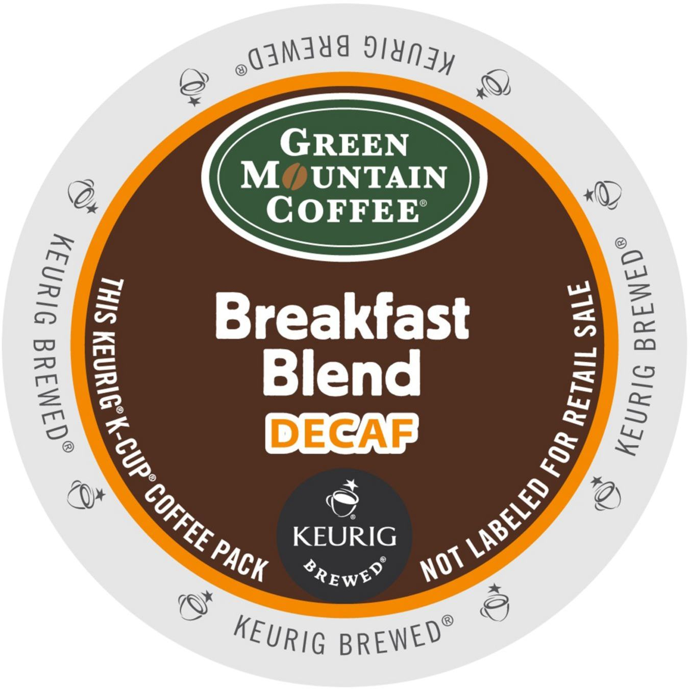 Green Mountain Breakfast Blend Decaf Coffee, K-Cup Portion Pack for Keurig Brewers (96 Count) (4x16oz)