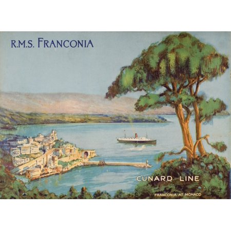 Cunard Line Promotional Brochure For The Rms Franconia Circa 1926-1930 Canvas Art - Ken Welsh  Design Pics (16 x