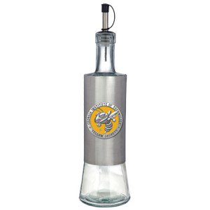 Stainless Steel Jacketed Tank - Georgia Tech Yellow Jacket Color Logo Pour Spout Stainless Steel Bottle