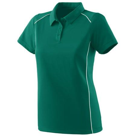 Augusta Sportswear Women's Winning Streak Polo, Dark Green/ White, (Winning Streak Green)
