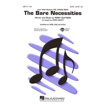 Hal Leonard The Bare Necessities (from The Jungle Book) SAB Arranged by John Leavitt (Disney Bare Necessities)