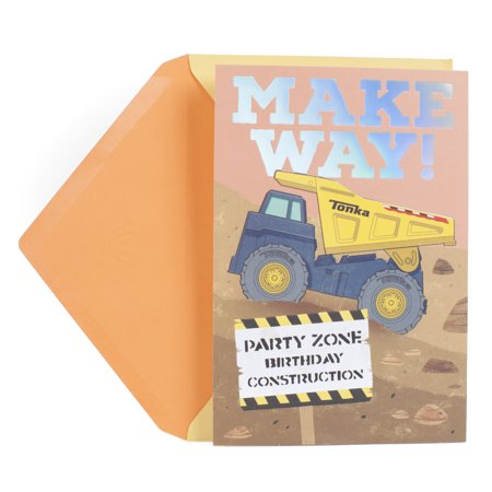 Hallmark Birthday Greeting Card for Kids (Hasbro Tonka Truck) - Tonka Truck Party Supplies