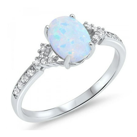 Matrix Opal Ring - 925 Sterling Silver Lab opal Gem Ring