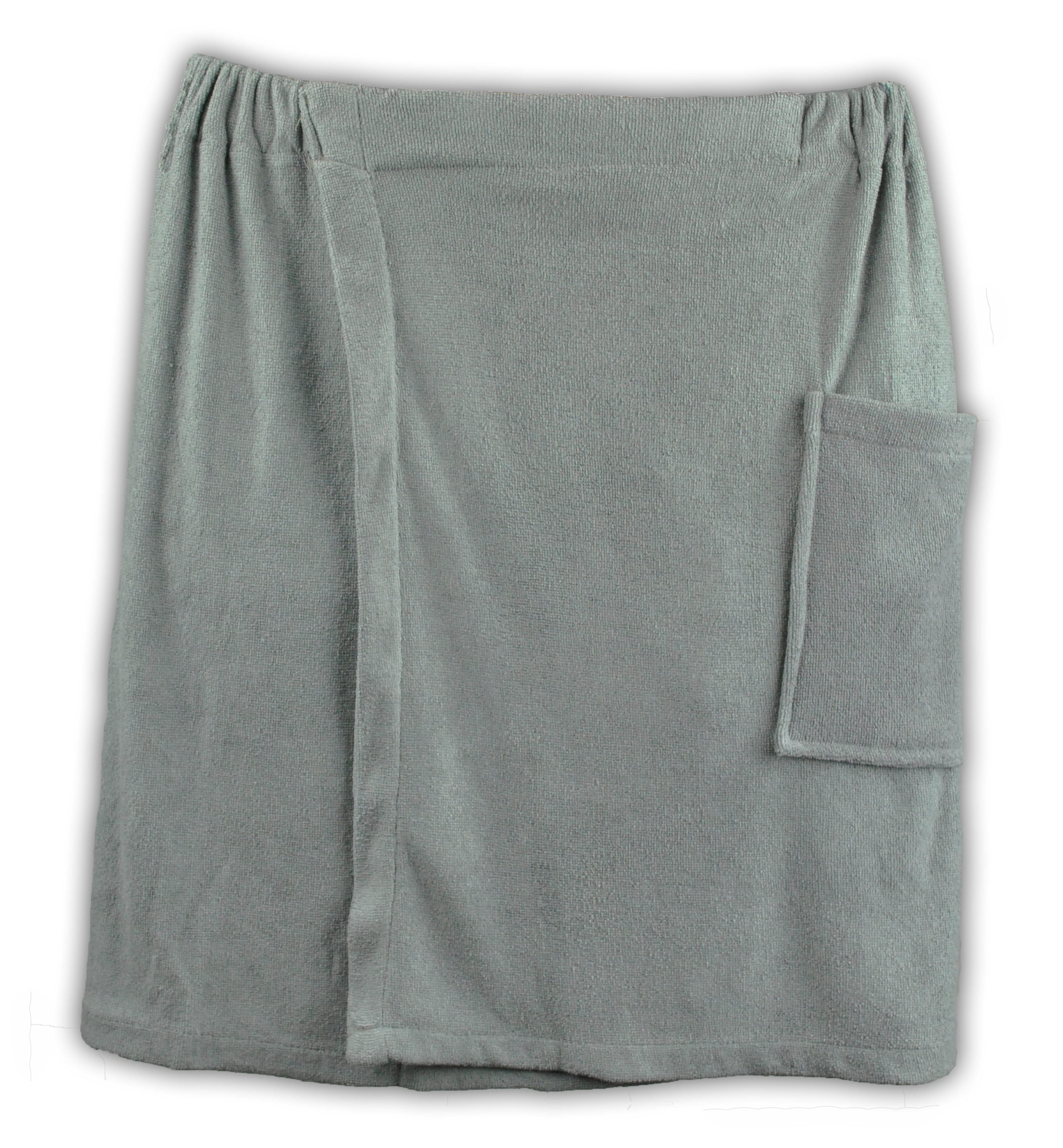 Mens Towel Wrap Spa Bath Sauna Accessory Cotton Shower Cloth Elastic White NEW