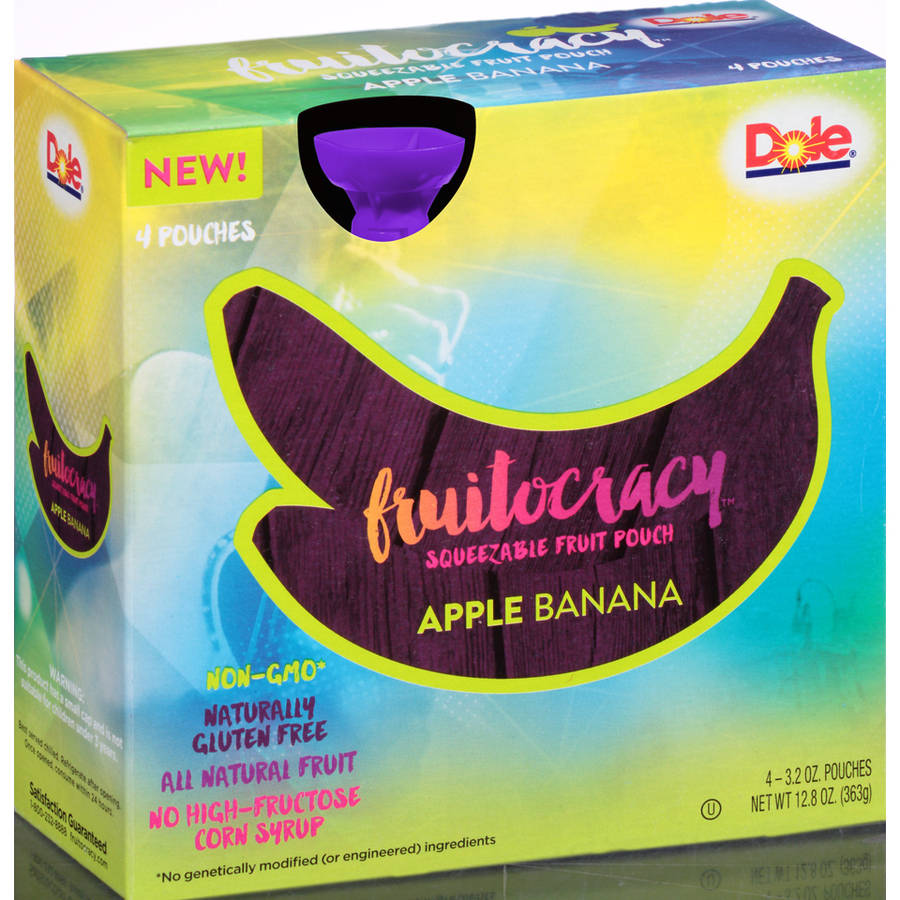 Fruitocracy Squeezable Fruit Pouch - Apple Banana, 3.2 oz. (4 pack)