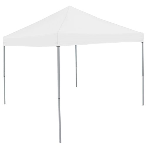 Logo Brands Economy Tent 9 Ft. W x 9 Ft. D Pop-Up Canopy with