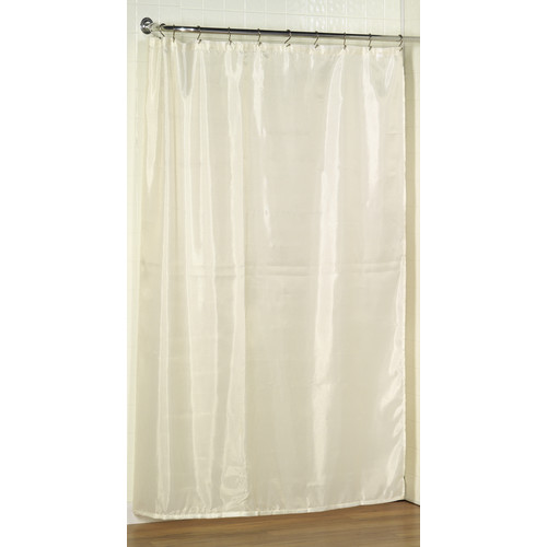 Extra Long (96u0027u0027) Polyester Fabric Shower Curtain Liner ...