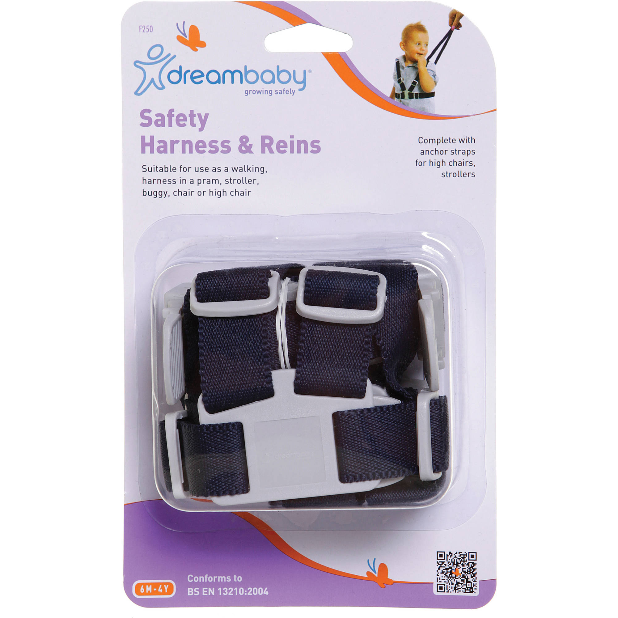 Dreambaby Safety Harness and Reins, Navy