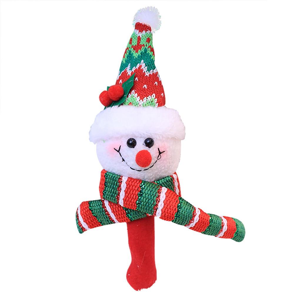 DZT1968 Christmas Santa Claus Hand Bells Baby Soft Toys Developmental Rattle Bed Kids