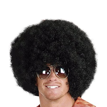 Afro Wig (Unisex) - Choose Style (Black ) Afro Disco Hippie 60s 70s - 60s Hippie