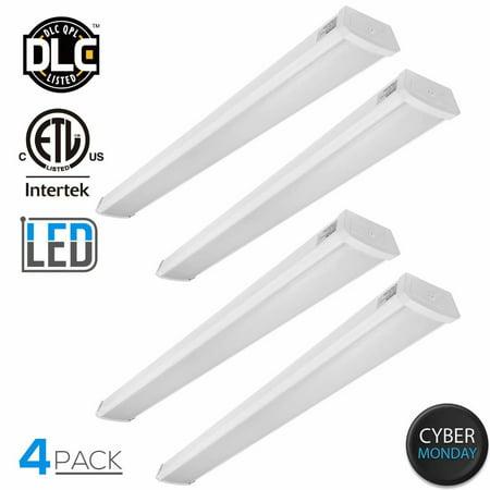 LEONLITE 4 Pack 40W 4ft LED Wraparound lighting Fixture, LED Shop Light, 5000K Daylight for CYBER - Led Shoe Lights