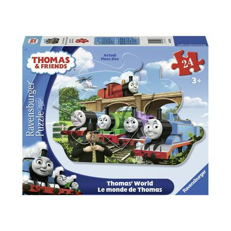 Thomas & Friends - Thomas' World Shaped Floor Puzzle: 24 Pcs
