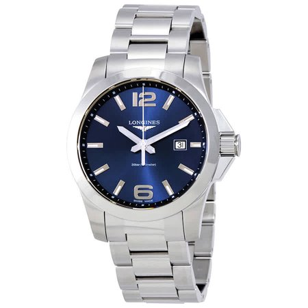 Longines Conquest Blue Dial Stainless Steel Men's Watch L37604966