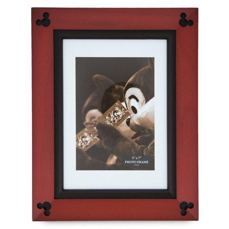 Disney Parks Mickey Mouse Icon Wood Photo Frame 5 x 7 New with - Mickey Mouse Frame