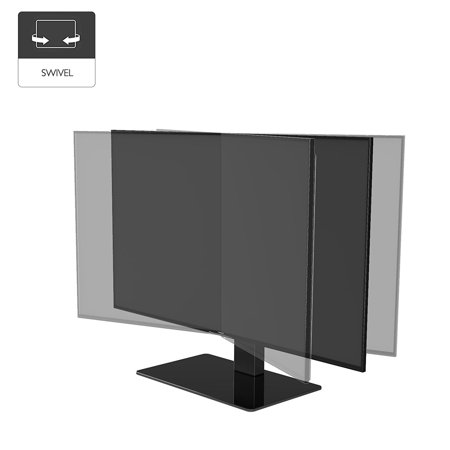 Akozon Universal Table Top TV LCD LED Stand, Base Wall Ceiling Bracket, for 14-71  Screen, Universal Table Top TV LCD with Base Stand, Height Adjustable TV Base Stand with Pedestal Base (Officeworks Pedestal Table Base)