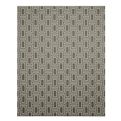 EORC Gray Contemporary Geometric Brandon Rug (4'3 x 5'11)