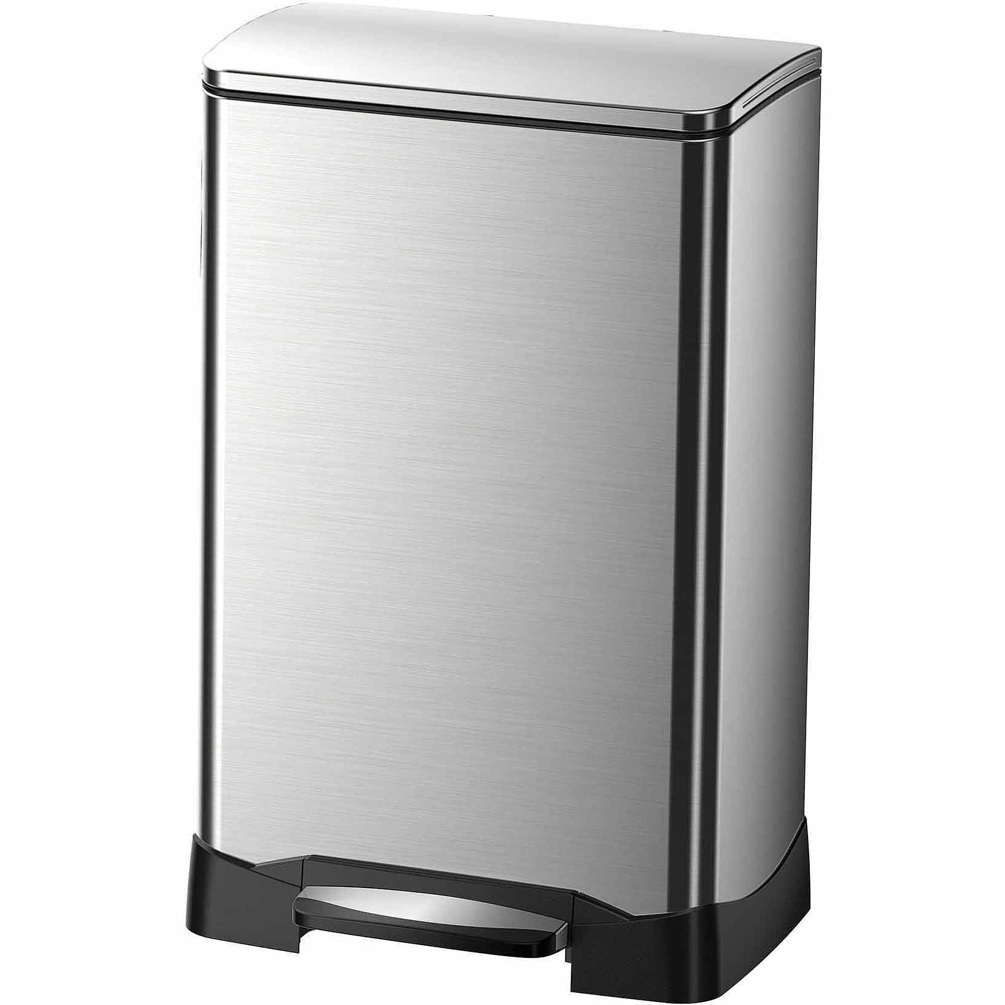 better homes and gardens 30 liter oval trashcan stainless steel