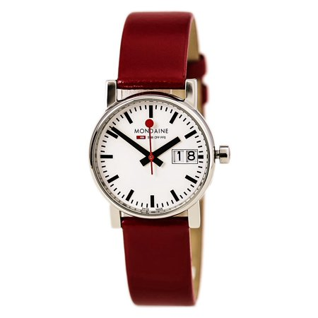 A669.30305.11SBC Women's EVO Big Date White Dial Red Leather Strap