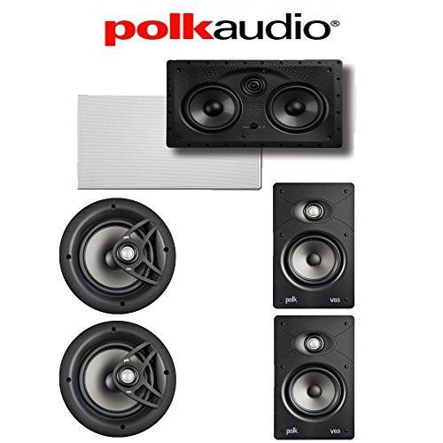 Polk Audio V80 5.0 Vanishing Series High Performance In-Wall   In-Ceiling Home Speaker System ( V80 + V65 + 255C-RT) by Polk Audio