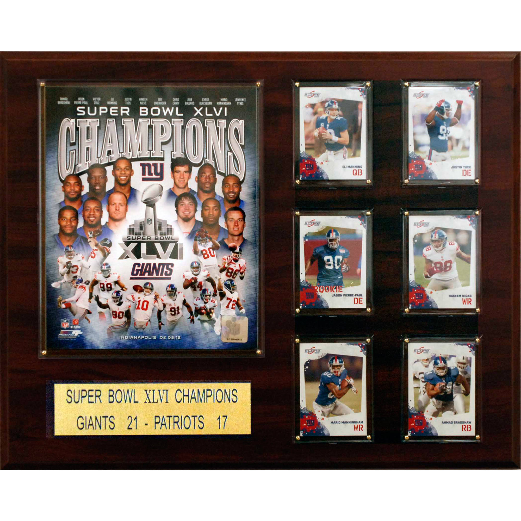 C&I Collectables NFL 16x20 New York Giants Super Bowl XLVI Champions Plaque