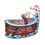 Akoyovwerve Play Game Tent For Kids Pirate Ship Marine Ball Pool Indoor Toy House Game Fence