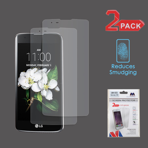 For LG Treasure LTE/Tribute 5/K7 Clear Anti-grease LCD Screen Protector 2 Pack