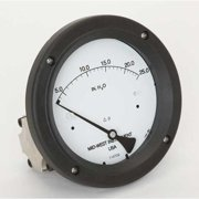 MIDWEST INSTRUMENT 142-SC-00-OO-25H Pressure Gauge,0 to 25 In H2O