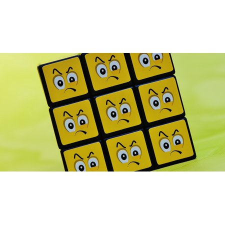 LAMINATED POSTER Mood Cube Emoticon Smilies Grim Feelings Emotion Poster Print 24 x (Emotion Cubes)