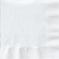 Creative Expressions Luncheon Napkins 50-Pack, White