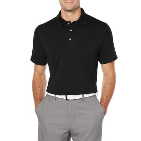 a0dca153 Men's Big and Tall Short Sleeve AirFlux Golf Performance Solid Polo Shirt -  Walmart.com