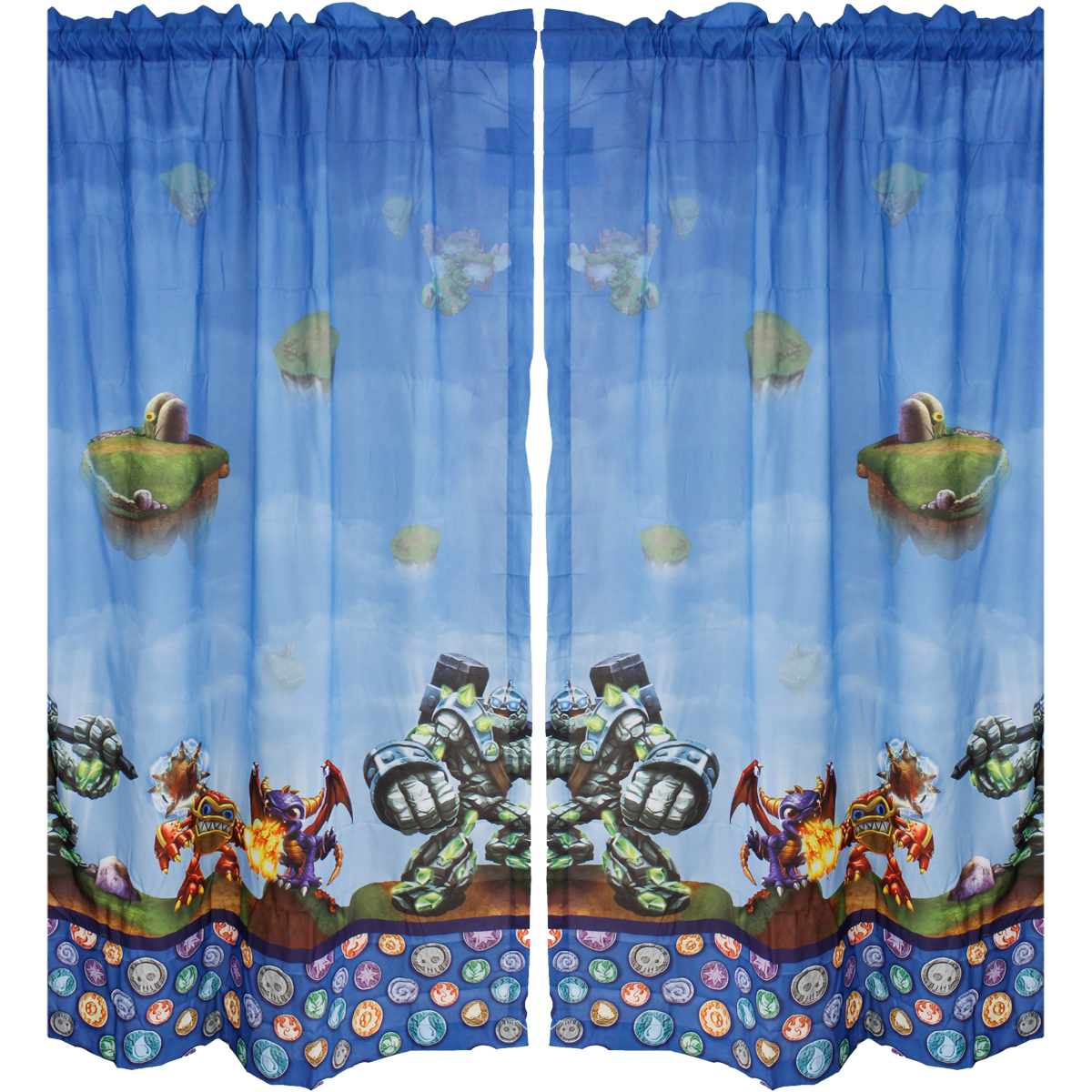 Skylanders Boys Bedroom Curtains, Set Of 2   Walmart.com