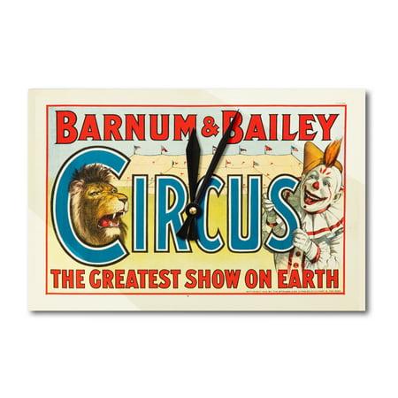 Barnum & Bailey Circus Vintage Poster USA c. 1916 (Acrylic Wall Clock)