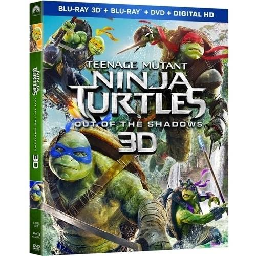 Teenage Mutant Ninja Turtles: Out Of The Shadows (3D Blu-ray + Blu-ray + DVD + Digital HD)