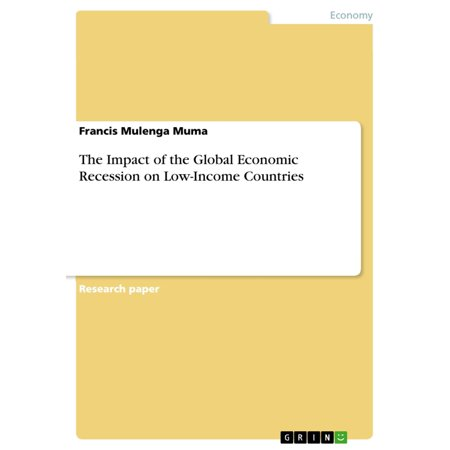 The Impact of the Global Economic Recession on Low-Income Countries - eBook - Economic Impact Of Halloween