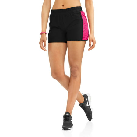 Danskin Spandex Shorts - Women's Core Woven Running Shorts With Contrast Lasercut Insert