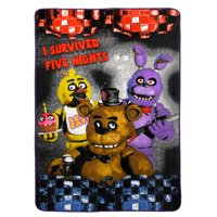 Five Nights at Freddy?s Plush Blanket, Kids Bedding, Freddy Fazbear, Chica and Bonnie