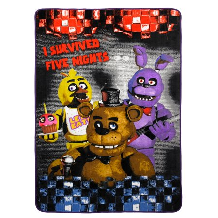Five Nights at Freddy's Plush Blanket, Kids Bedding, 62x90, 1 Each